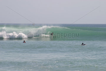 Indonesia: Bali  Dreamlands. Surfers preparing for the upcoming contest held at Dreamlands.