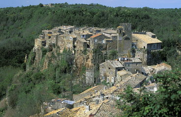 Calcata  a medieval village built on a rock in the Treja valley