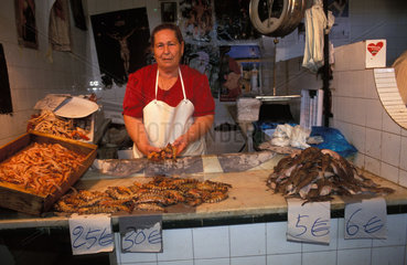 Sanlucar de Barremeda the fish market