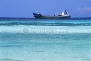 Cargo ship for the exploitation of the bauxite Cabo Rojo