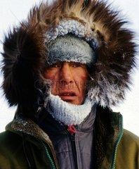 Portrait of a bear hunter of Greenland
