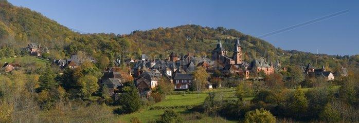 View of Collonges-la-Rouge Correze France