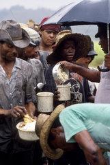 Debt bondage. Sugarcane cutters. Contemporary slavery  Northeast Brazil.