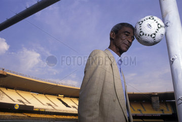 Didi  brazilian soccer player  poses at Maracana Stadium in Rio de Janeiro  Brazil. Champion of the World in the 1958 and 1962 World Cups.