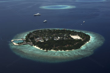 Maldives  island owned by the president of the Maldives mister Gayoom