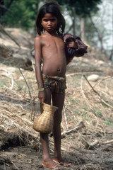 NEPAL : Terai. Tharu girl.