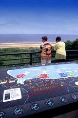 location of landings on Omaha Beach Normandy France
