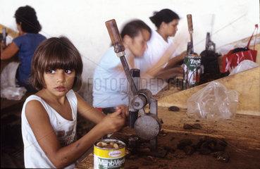 Brazil nut processing plant. Child labor. Acre  Amazon  Brazil.