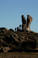 Argentina  Patagonia  Puerto Deseado  landmark that helped the Dutch colonial expedition to determine where they were