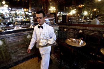 Turin  caffe mulassano at the piazza castello