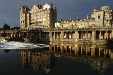Bath  Avon river and the Victoria Art gallery