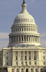 The beautiful color of the famous Capital Building of government in Washington DC in the USA