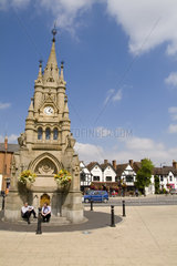 American Fountain on Wood Street in hometown of William Shakespeare in Stratford Upon Avon in the West Midlands Great Britian England