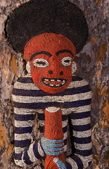 Cameroon Africa bead artwork from native tribe work of warrior