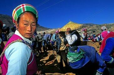 Shaping market in Yunnan Province China