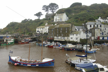 Cornwall  the harbour of Polperro