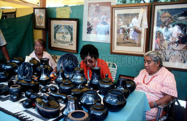 USA. New Mexico. Santa Fe. Santa Fe  New Mexico is the oldest capital city in North America and also the oldest European city west of the Mississippi. Each August  the historic city becomes the Santa Fe Indian Market  enveloping the towns central Plaza a
