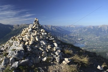 Cairn of the Pic de Morgon and Embrun Hautes-Alpes France