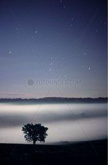 Constellation d'Orion au-dessus de la vallée de l'Auchie
