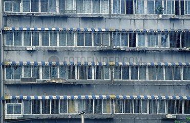 Windows of residential buildings Beijing China