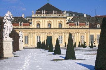 Le belvédère inférieur et les jardins en hiver  Vienne