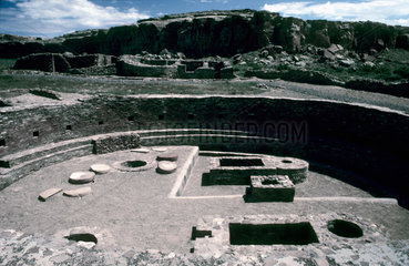 Chaco Canyon was an important Anasazi (ancient Native American) cultural center from about 900 through 1130 AD. About 30 ancient masonry buildings  containing hundreds of rooms each  attest to Chacos importance. Some structures are thought to serve as as