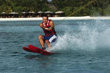 Maldives  water skiing at the one and only Kanuhura resort
