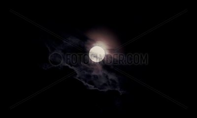 Full Moon in the clouds France