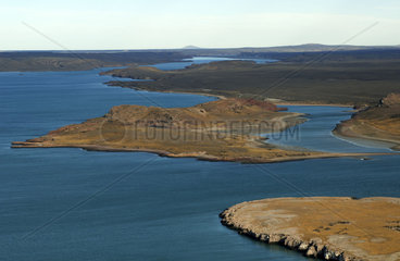 Argentina  Patagonia  aerial view of the Ria Deseado