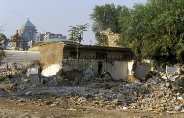 Destruction of the old Beijing for the 2008 Olympic Games