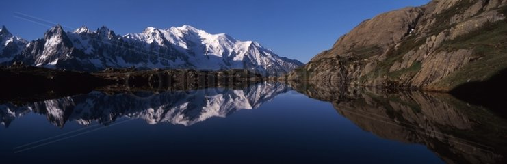 Lake Chéserys in the Aiguilles Rouges Alps