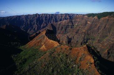 Former crater of a volcano on the Kauai island Hawaii