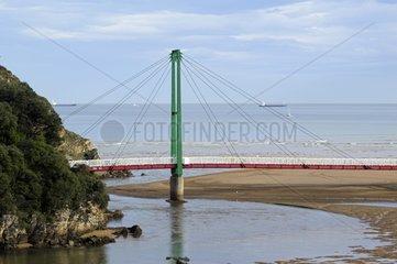 Bridge on the coast in Bilbao Spain