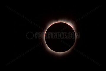 Totalité d'une éclipse totale de Soleil