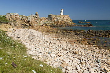 Paon lighthouse  Brehat island  Cotes-d'Armor  Brittany  France