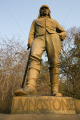David Livington  explorer statue  Victoria fall  Zimbabwe