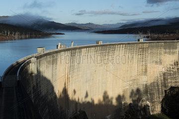 Hydroelectric dam of Lake Yate. New Caledonia.