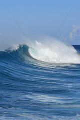 Wave in Caribbean Sea  Guadeloupe  French West Indies