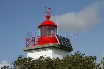 Photovoltaic cell modules on the Pointe d'Agon lighthouse in Agon-Coutainville  Normandy  France