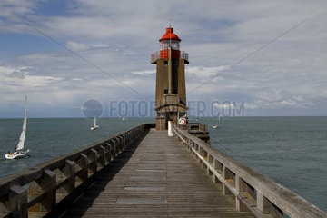 Lighthouse of Fecamp  Normandy  France