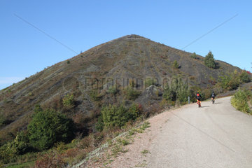 One of the two largest slag heaps in Europe  the twin heaps of Loos-en-Gohelle are located on the basis of 11/19. They have been converted into spaces for walks and sports activities  Hauts-de-France  France