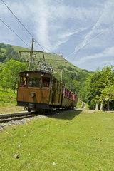 Rhune rack railway train  Sare  Pyrenees-Atlantiques  France