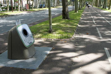 Container for glass bottle in an urban environment in Versailles  ile-de-France  France