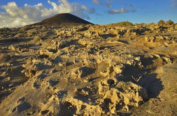 Sand formations called sismitas   Reserva Natural de Montaña Roja. Municipality of Granadilla de Abona. Island of Tenerife  Canary Islands.