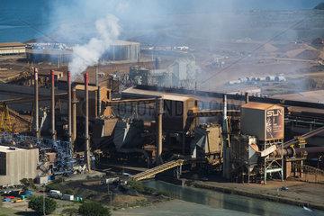 Nickel Company. S.L.N. Nickel processing plant. Noumea. New Caledonia.