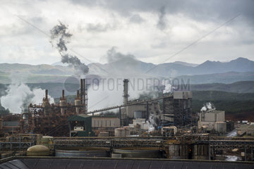 Hydrometallurgical plant for ore extraction and nickel and cobalt production. Located in the south of the Grande Terre in the commune of Yate. New Caledonia.
