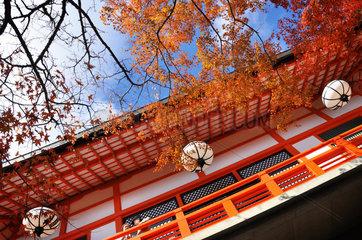 Kuruma jinja shrine north of Kyoto  Japan