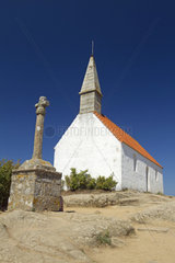 Calvary and Saint-Michel chapel  Brehat island  Cotes-d'Armor  Brittany  France