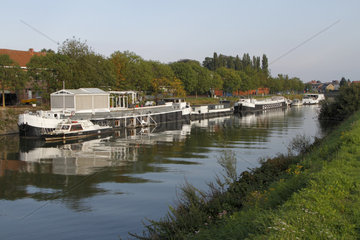 River Lys in Halluin  Hauts-de-France  France