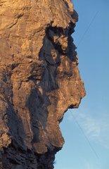 Paroi rocheuse en forme de visage Cirque de Navacelles Gard